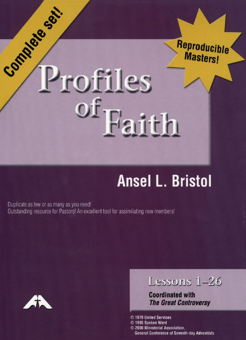 Profiles of Faith (PDF) cover image
