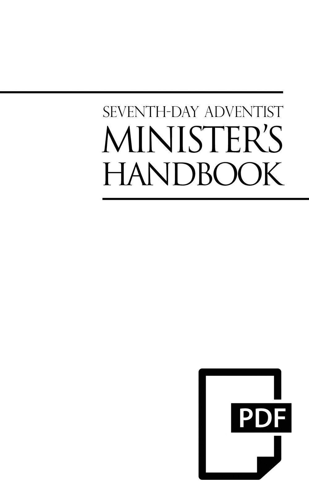 Minister's Handbook (PDF Download) cover image