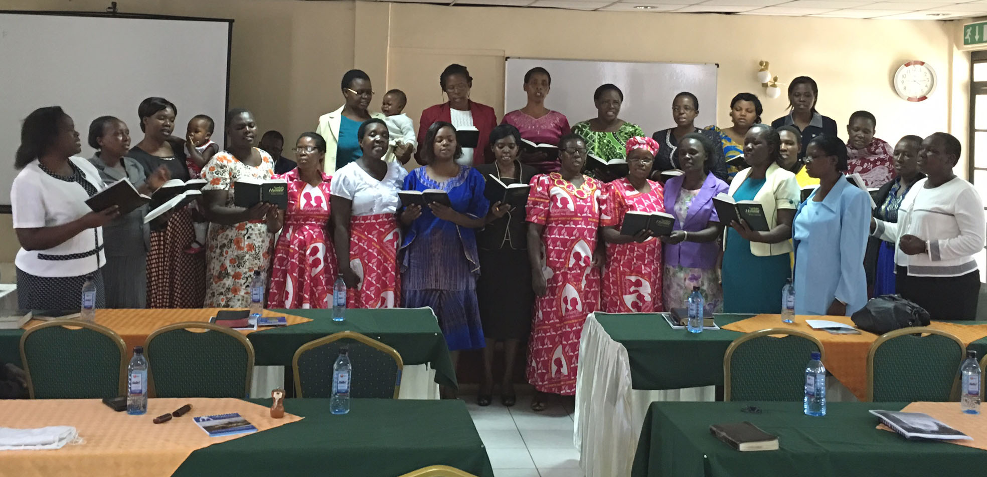 2016 March ECD East and West Kenya Pastors' Spouses Singing